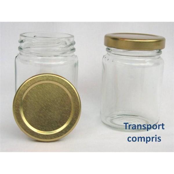 Pots ronds 106 ml avec couvercle aux choix livraison 72 heures - Pots en verre pour confiture ...