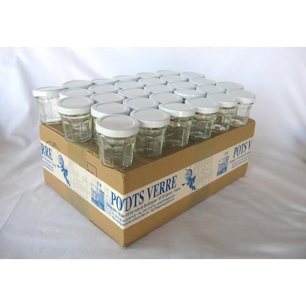 Petits pots facettes 44 ml avec couvercle au choix en - Pots de yaourts en verre avec couvercle ...